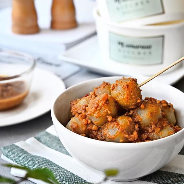 Resep Bikin Cilok Bumbu Kacang Sederhana Super Enak dan Pedas
