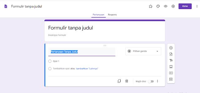 Formulir kosong Google Formulir