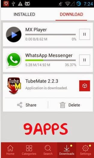تحميل متجر 9Apps للتطبيقات والألعاب والخلفيات مجانا للاندرويد