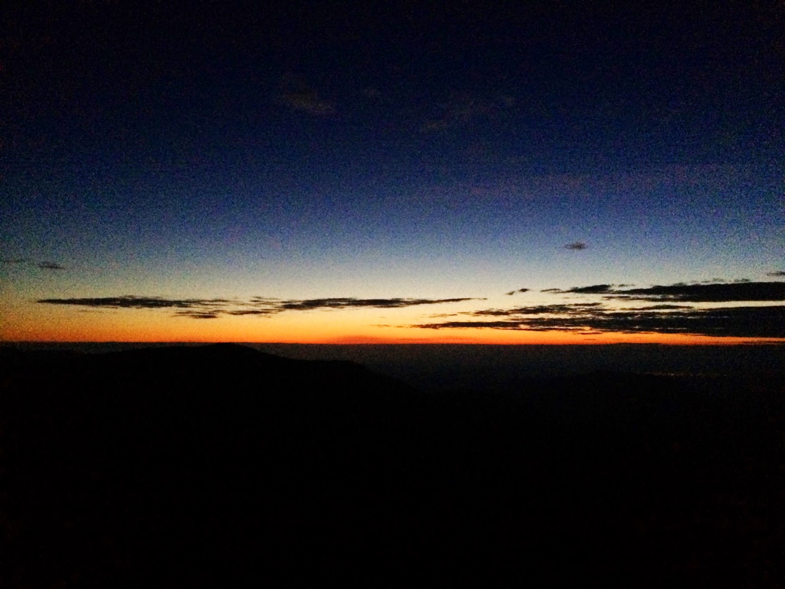 The sun begins to rise over Fairfield - 24 peaks challenge - Lake District
