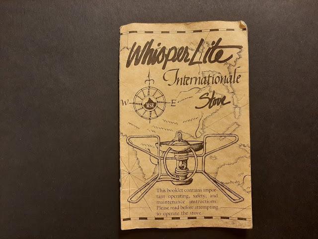 MSR WhisperLite International Stove Instruction Booklet