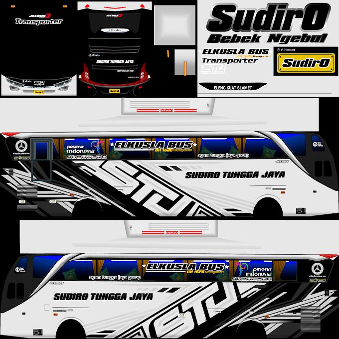 Sudiro Tungga Jaya Transporter Putih : Skin Livery Bus Simulator Indonesia