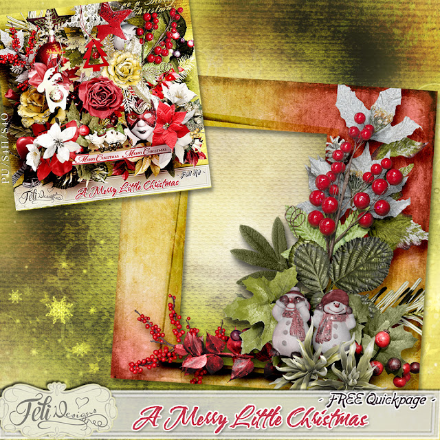 A Merry Little Christmas - NEW Collection + FREE Quickpage