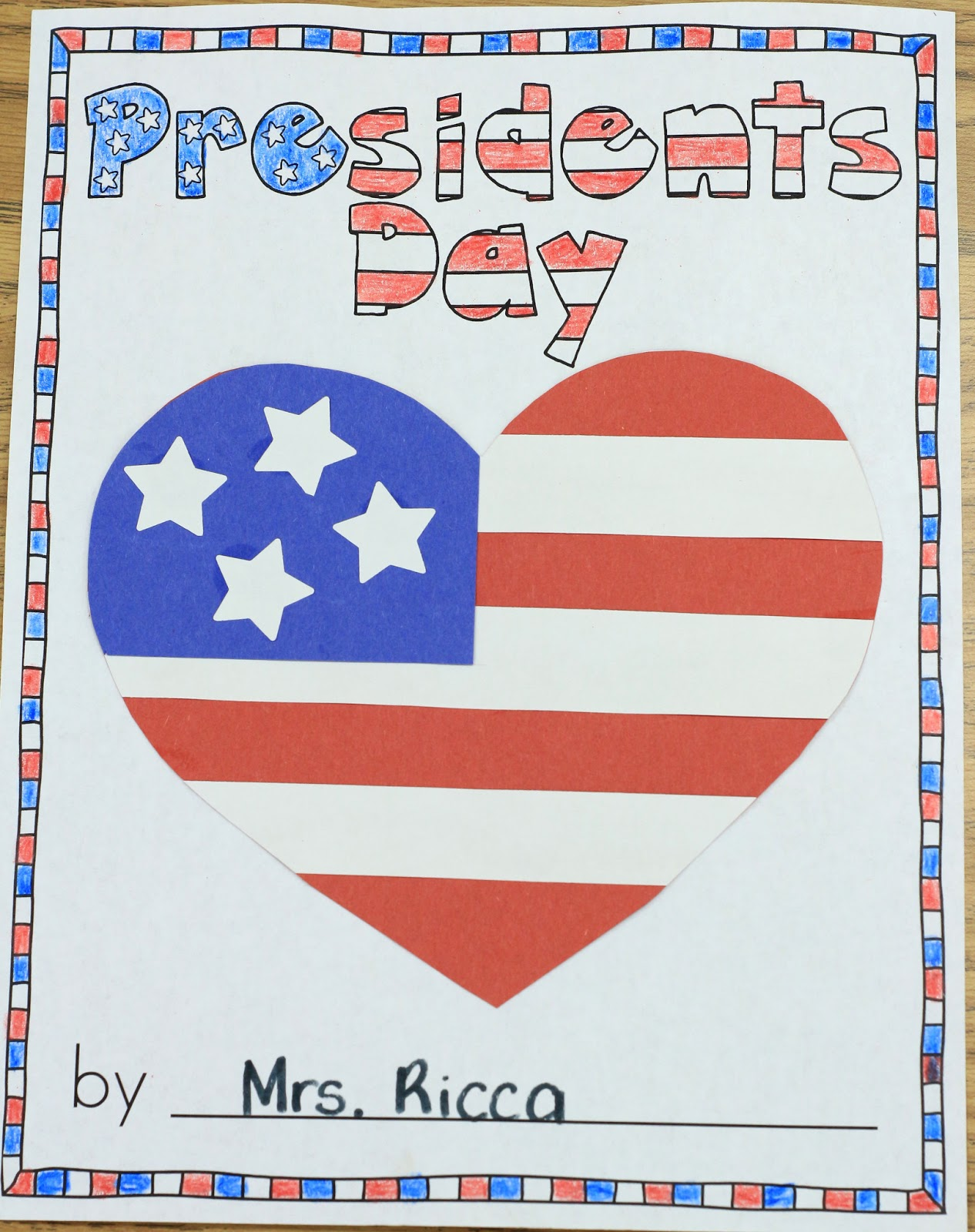 Mrs Ricca S Kindergarten Presidents Day Freebie