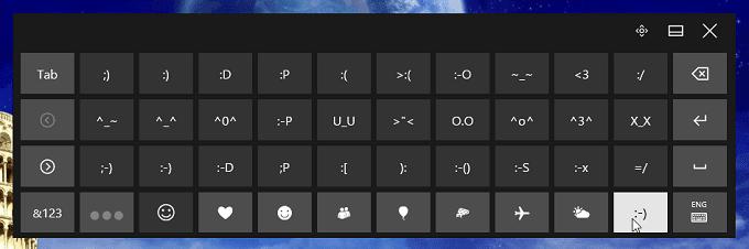 cách chèn biểu tượng cảm xúc emoticon và emoji trên máy tính