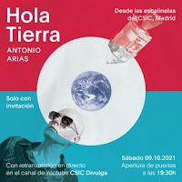Antonio Arias, presentación Hola tierra en directo