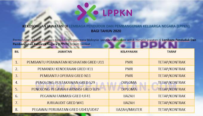 Jawatan Kosong Terkini di Lembaga Penduduk Dan Pembangunan Keluarga Negara (LPPKN).