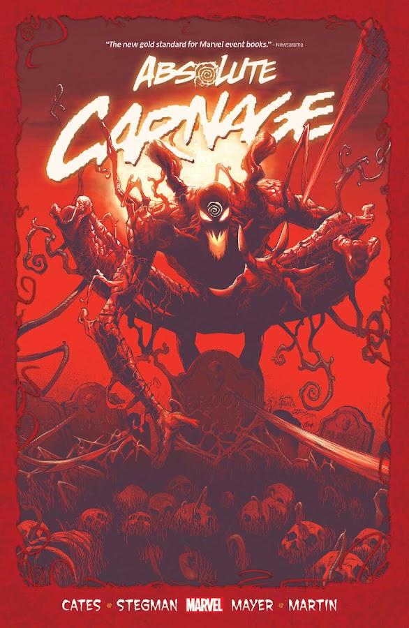 absolute carnage marvel comics cover donny cates ryan stegman grendel klyntar symbiote cletus kasady carnage venom eddie brock spider man