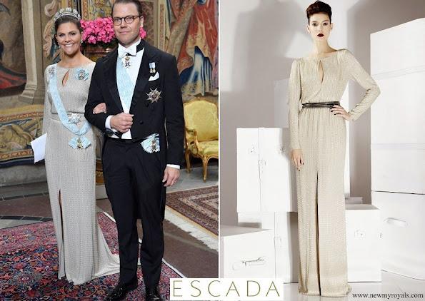 Crown Princess Victoria wore Escada gala gown