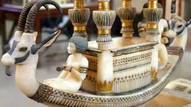 The Alabaster Boat of of King Tutankhamun
