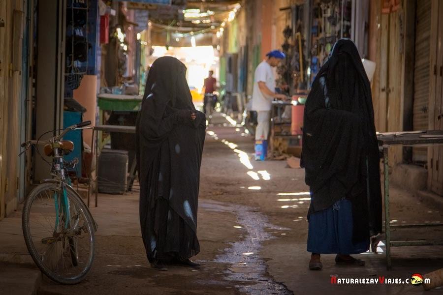 Mujeres Burka en Marruecos