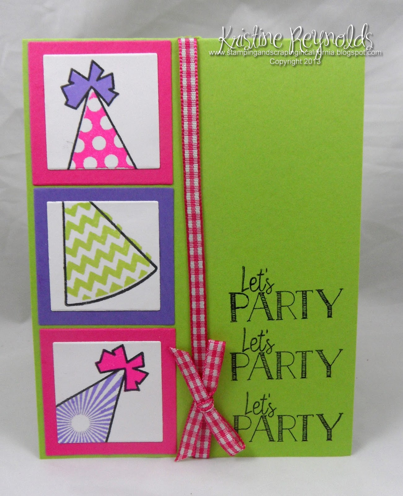 Stamping & Scrapping In California: Stamps4partyhats