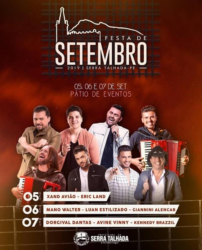 Programação da Festa de Setembro em Serra Talhada 2019