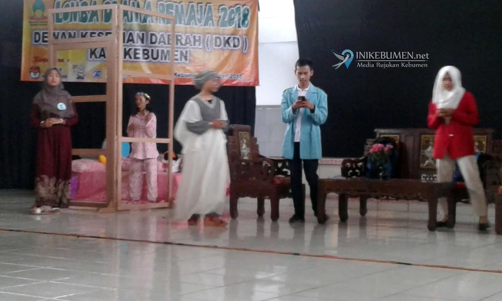 Lewat Lomba Drama Remaja, DKD Kebumen Sosialisasikan Pilgub Jateng