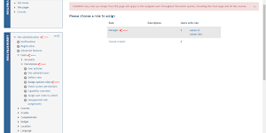 Merubah Hak Akses User Moodle [Administrator]
