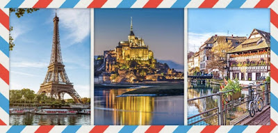 Figure: Oh la la! This one must be easy for you! Which country do these images show?