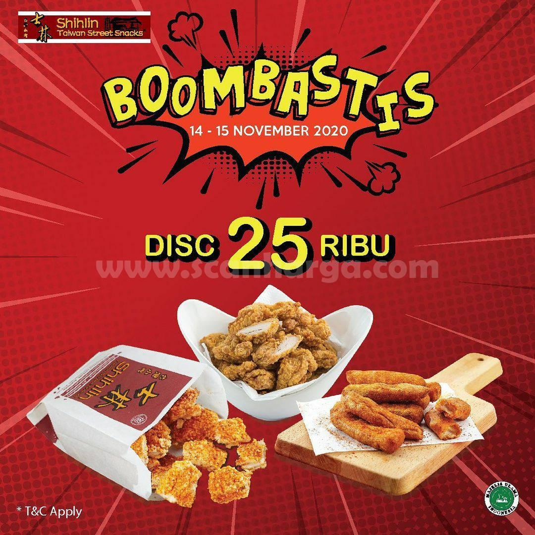 Promo Shihlin: Boombastis Discount 25 Ribu*