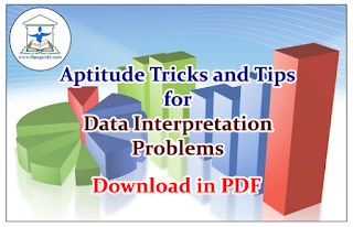 Aptitude Tricks and Tips for Data Interpretation Problems- Download in PDF