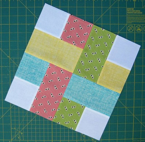 Woven & Snowball Block - Tutorial