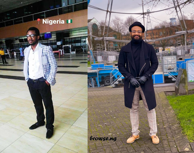 'The Day I Left vs Now' - Medical Doctor Shares Cute Photos Of Him After Leaving Nigeria