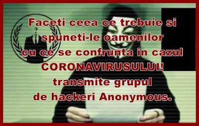 hackeri anonymous sunt de parere ca guvernele ascund adevarul despre coronavirusul din china