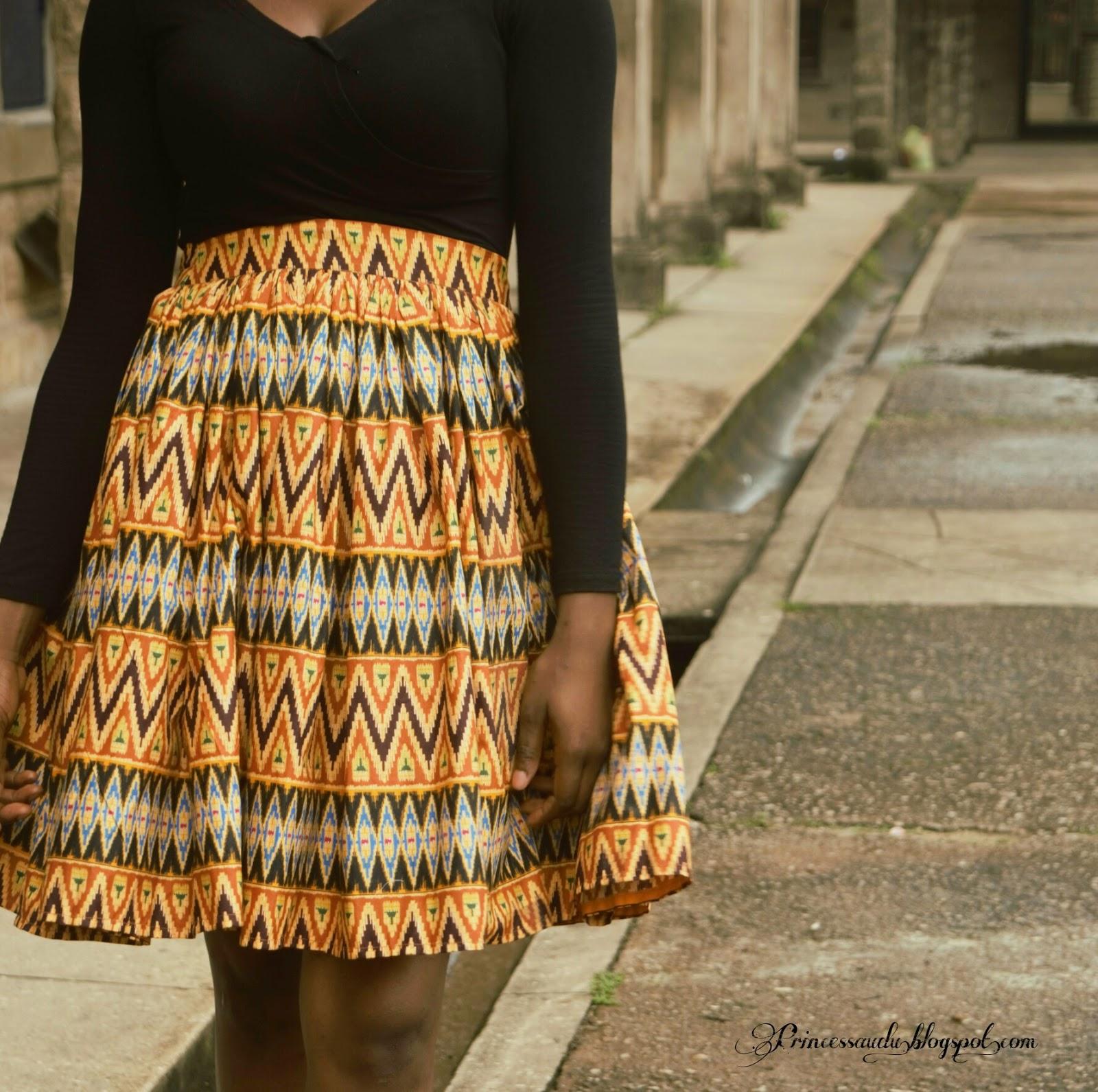 skater skirt, ankara, african print