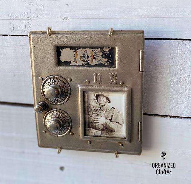 Photo of vintage mailbox door photo frame