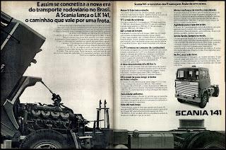 propaganda caminhão Scania 141 - 1978; Saab Scania anos 70;  reclame de carros anos 70. brazilian advertising cars in the 70. os anos 70. história da década de 70; Brazil in the 70s; propaganda carros anos 70; Oswaldo Hernandez;