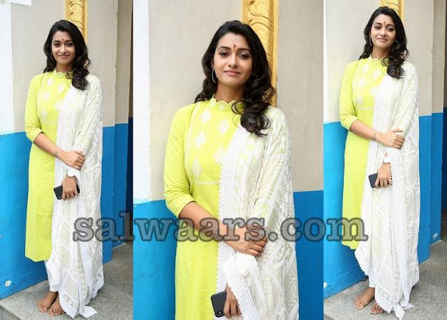 Priya Bhavani Shankar Yellow Salwar