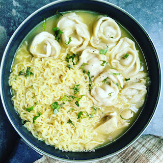 Chicken noodle dumpling soup is a comfort food. Serve it in lunch or dinner. I use maggi noodle which is a very popular noodle brand in India. And the dumplings that I made is actually called momos. So you can say it's a chicken maggi momo soup also.