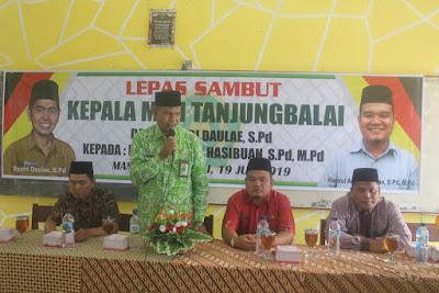 Kasi Penmad Hadiri Pisah Sambut Kepala MAN Tanjungbalai