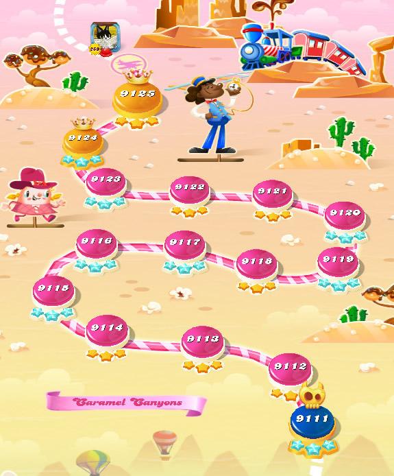 Candy Crush Saga level 9111-9125