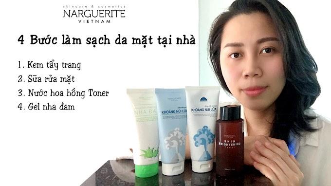 4 bước làm sạch da mặt tại nhà cùng mỹ phẩm thiên nhiên Narguerite