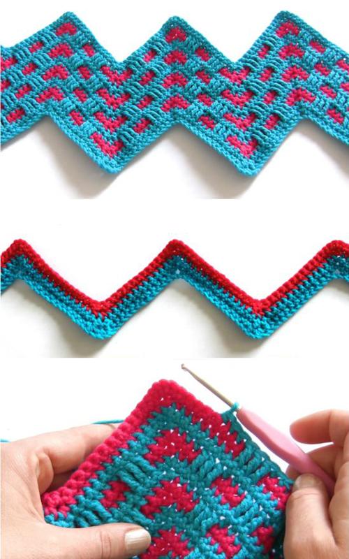Crochet Mosaic Ripple Stitch - Tutorial