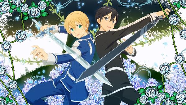 gambar pedang kirito dan gambar pedang eugeo