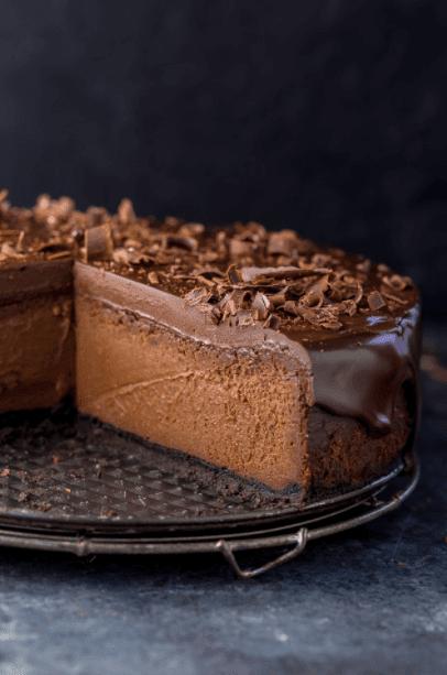 Yogurt Rich Chocolate Cheesecake