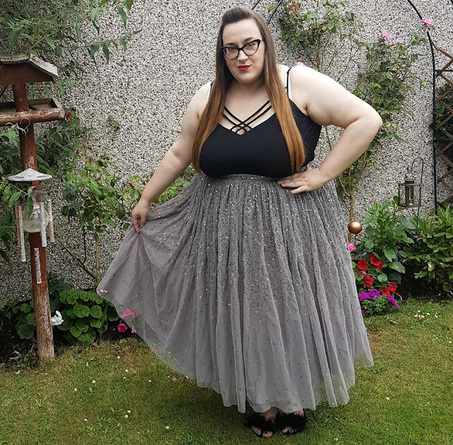 ASOS CURVE Tulle Prom Skirt with Embellishment review