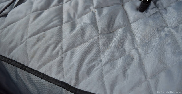 Closeup view of my fitted 4Knines Car Seat Cover