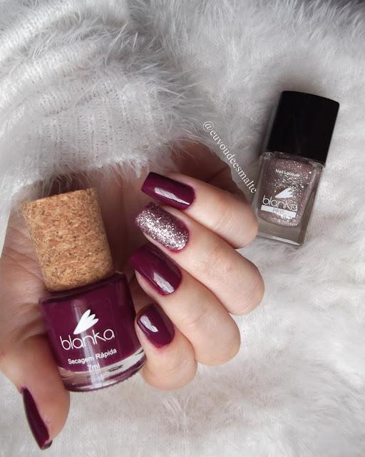 Esmalte Maliciosa + Esmalte Glitter Sophia