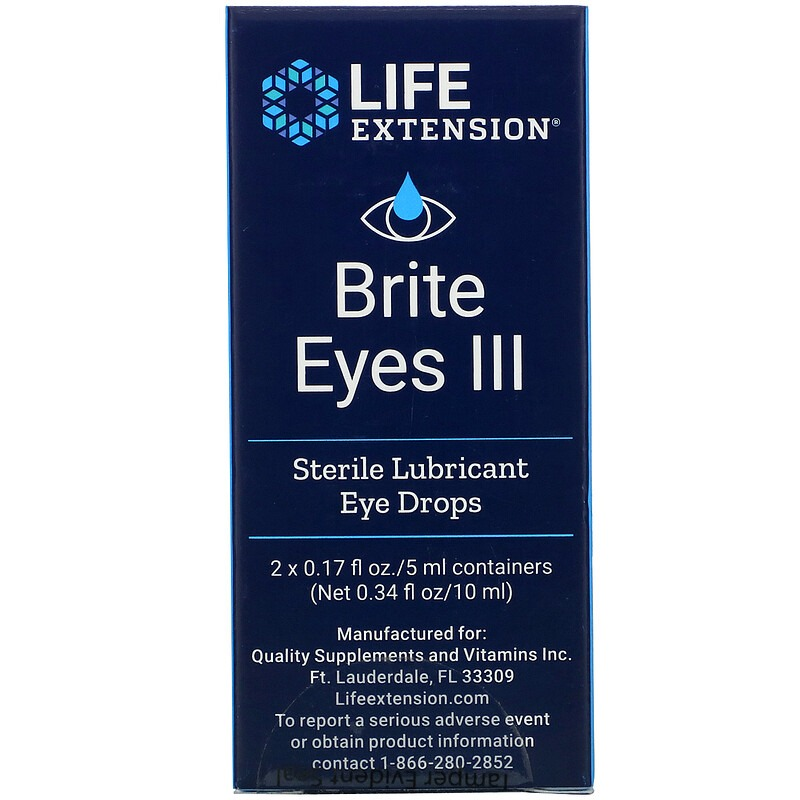 Life Extension, Brite Eyes III, 2 Vials, 0.17 fl oz. (5 ml) Each