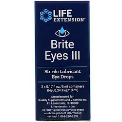 Life Extension, Brite Eyes III, 2 Vials, 0.17 fl oz. (5 ml) Each