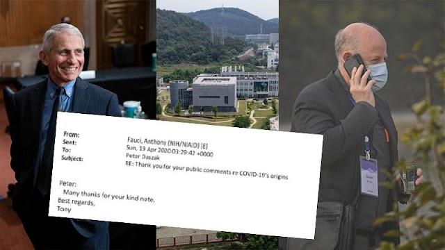 Email δείχνουν τον ερευνητή που χρηματοδότησε το εργαστήριο στο Wuhan - Ευχαριστούσε τότε τον Φάουτσι για την απόρριψη της θεωρίας του εργαστηρίου