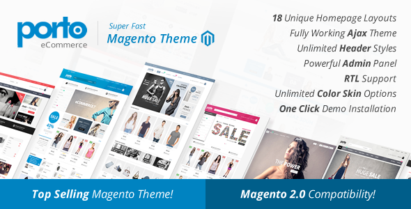 Gratis Download Porto Ultimate Responsive Magento Theme