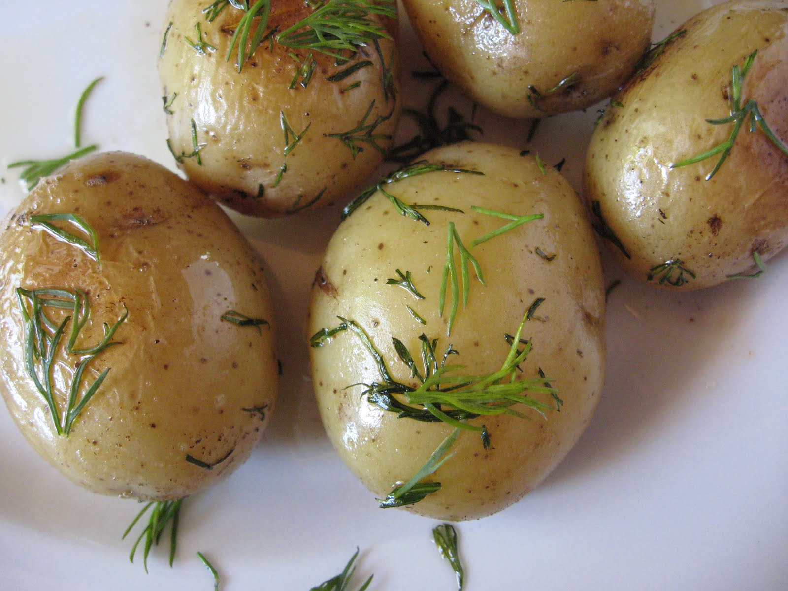 she's in the kitchen: smashed potatoes with fresh dill and ...