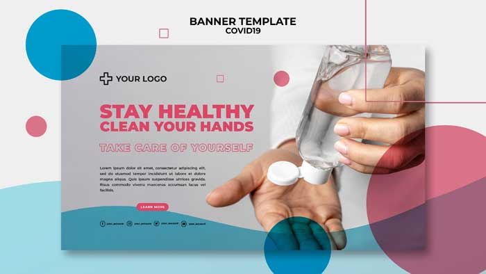 Covid-19 Concept Banner Template