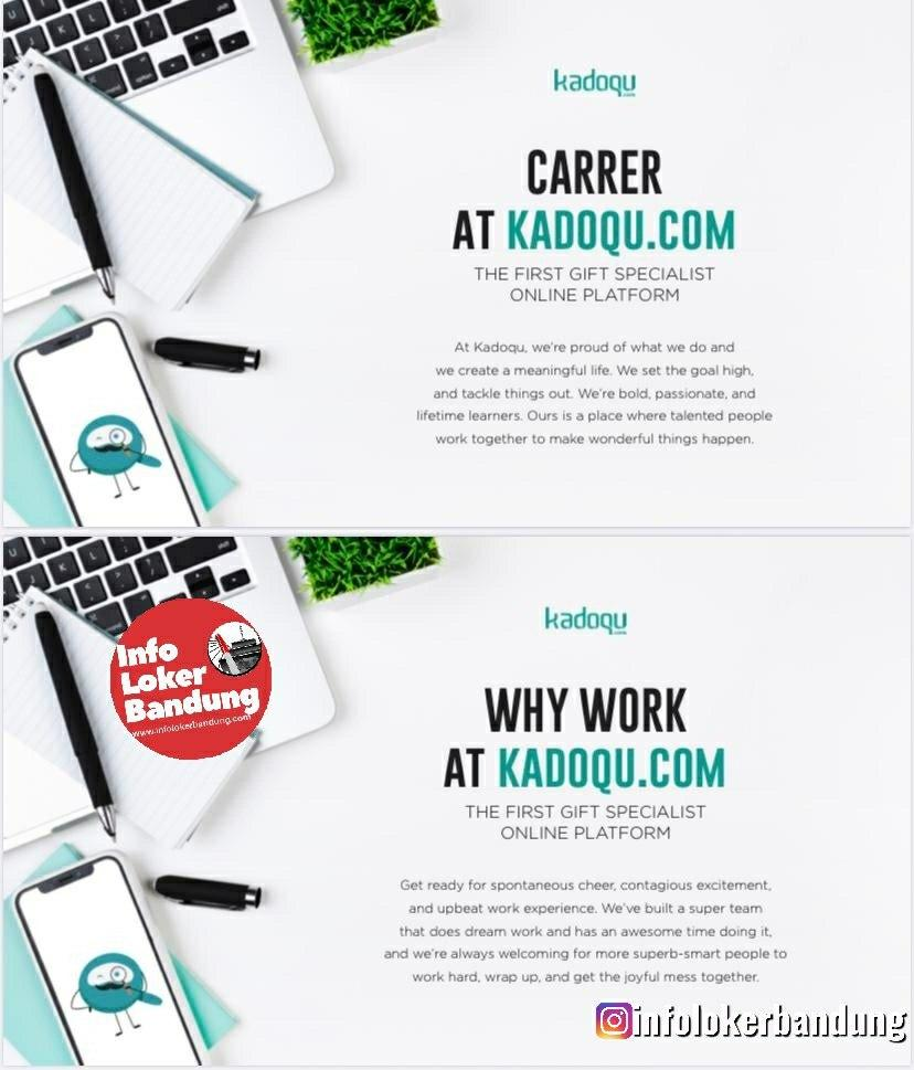 Lowongan Kerja Kadoqu.com Bandung Januari 2020