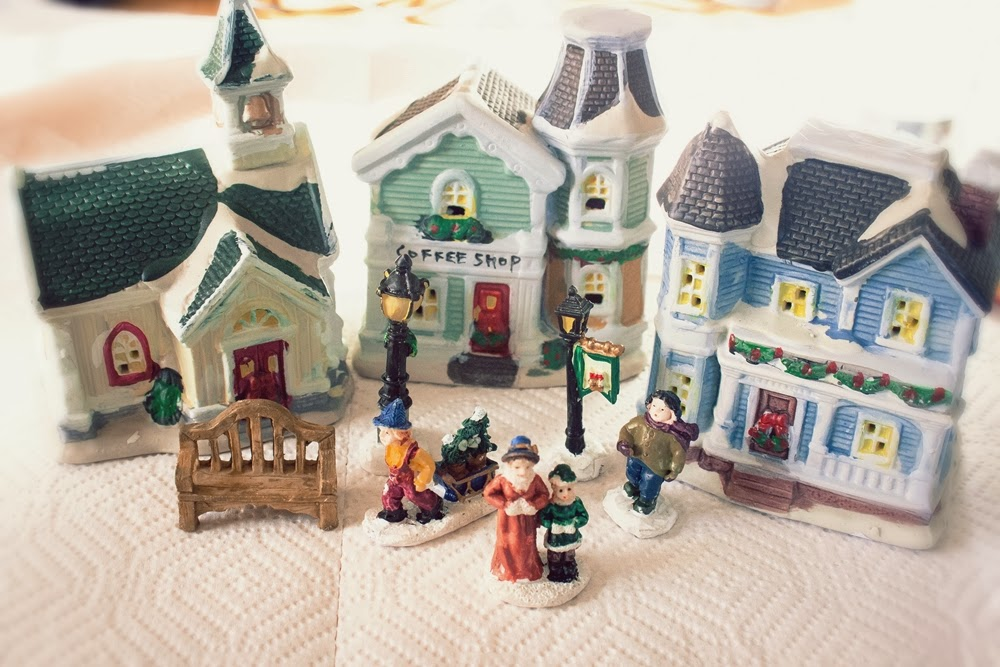 How To Store Christmas Village Houses.Art Whimsies Dollar Store Christmas Village Revamped