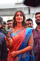 Puja Hegde looks stunning in Red saree at launch of Anutex shopping mall ~ Celebrities Galleries 109.JPG