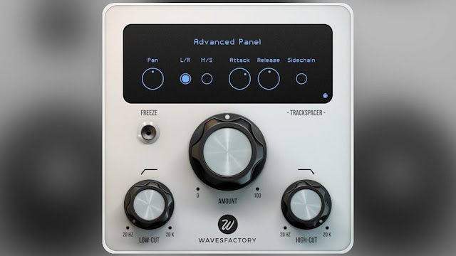 Interface do plugin Wavesfactory - TrackSpacer v2.5.7