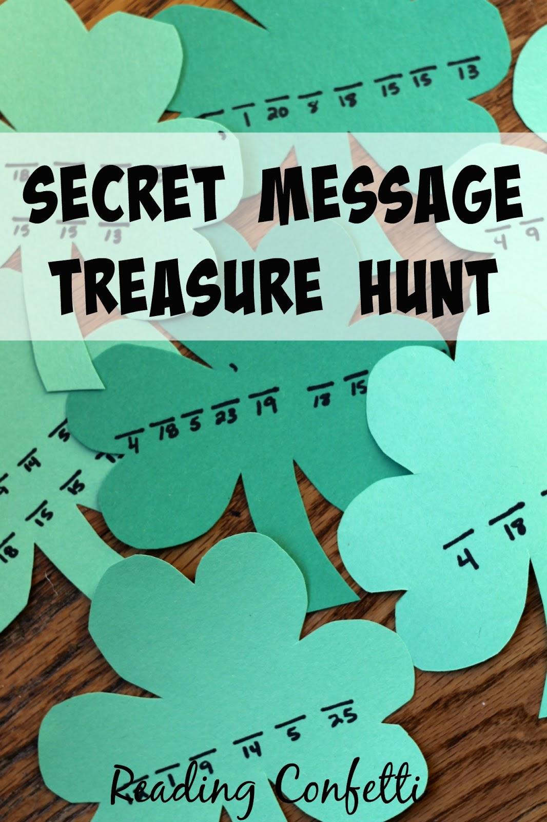 Secret Code Treasure Hunt Reading Confetti